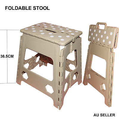 38cm Height Folding Stool Portable Chair Plastic Foldable Step Flat Outdoor