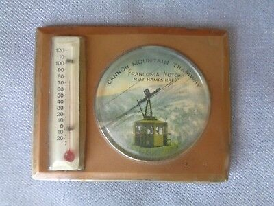 Vintage Advertising Cannon Mountain Tramway Franconia Notch NH Thermometer