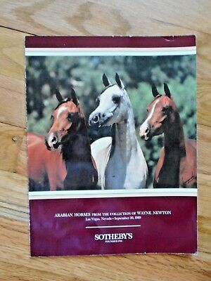 Arabian Horses, Of Wayne Newton, 1989 Sotheby's Auction Catalog