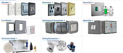 BG Wiring Devices - Decorative & Moulded Light Switches & Sockets Full Range