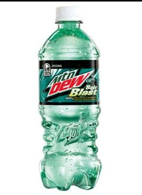 Mountain Dew Baja Blast Taco Bell special limited edition. Brand New not expired