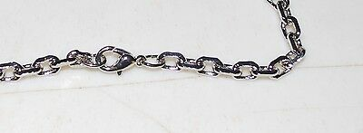 Chains- BUY 1 GET 1 FREE -Silver - 5mm Link Chain/Lobster Clasp-60cms - JF336