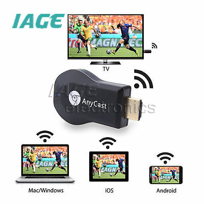 AnyCast HD WiFi Display Empfänger Airplay Miracast TV Dongle Stick 1080P