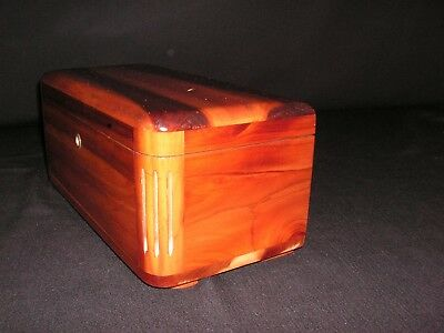 Rare Htf Vintage 1935 1936 Fluted Lane Miniature Cedar Chest Anaheim Ca Riutcel