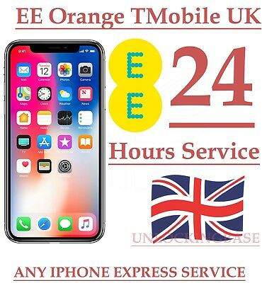 Unlocking  Service For  Orange / T-Mobile / Ee Uk Iphone  X  Factory In 24 Hours