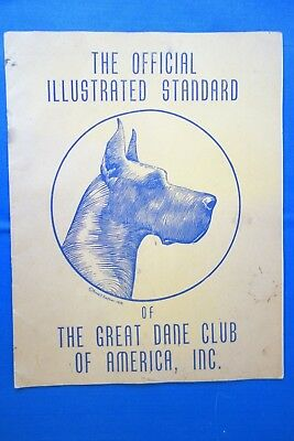 1945 Official Illustrated Standard of The Great Dane Dog Club of America