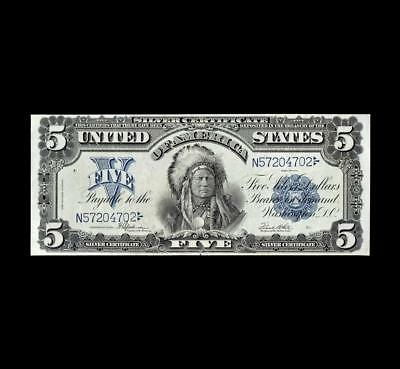 Amazing 1899 $5 Silver Certificate Superb Extra Fine+ Condition
