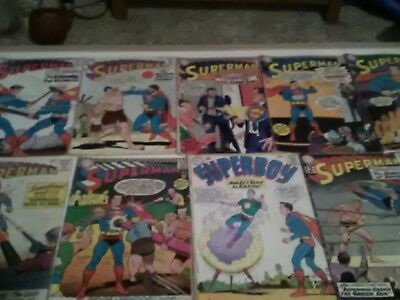 1960s Silver age Superman Comics Collection 55 Lot