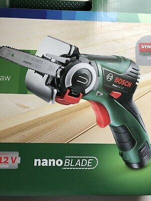 Bosch 12V Cordless Easy Cut Micro Chainsaw carry case 1 x 2.5Ah battery charg