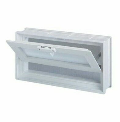 16x8x3 Vinyl, Thermal Pane, Glass Block Vent with Dual Insulated Glass Unit