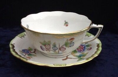Herend Queen Victoria Tea Cup & Saucer 734 Perfect Condition  Multiple Available