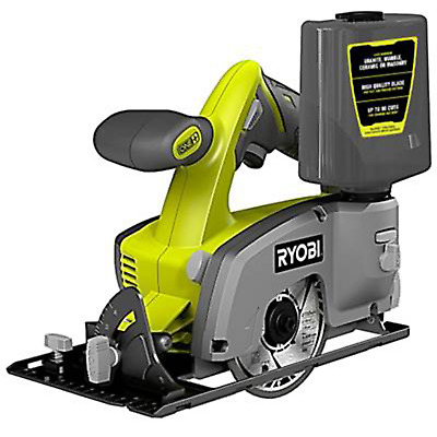 "Tile Saw Ryobi One+ 18V 4"" Wet / Dry - Skin Only/ gravity feed water bottle"
