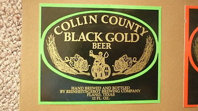Old Usa American Beer Label, Reinheitgebot Brewing Plano Texas, Black Gold Beer