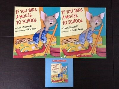 If You Take a Mouse to School Scholastic Listening Center 2 books & CD