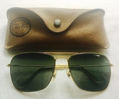 VINTAGE GOLD Tone AVIATOR U.S.A. Sunglasses with RAY BAN CASE