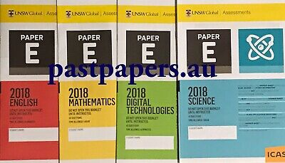 ICAS Year 7 (E) Past Papers Set ~ with 2018 papers   FAST DELIVERY