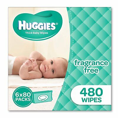 Huggies Fragrance Free Baby 480 Wipes Bundle Pack Nappies Boy Girl Born Bulk Tod