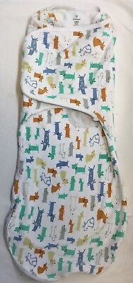 "Swaddle Me Baby Sleep Sack/Swaddle ""Dogs"" Size Large"