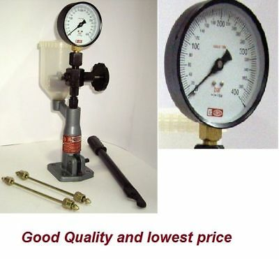 Diesel Injector Nozzle Pop Tester Dual Scale 6000 Bar/psi Gauge Free Shipping
