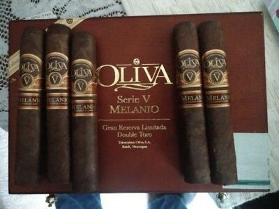 Five New Oliva Series V Melanio Double Toro Cigars