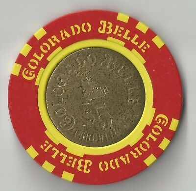 $5 Laughlin Colorado Belle 2Nd Edt Casino Chip Coin Inlay