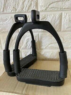 Brand New Flexi Bendy Offset Eye Stirrup Pairs Iron stainless steel . (Code DS).
