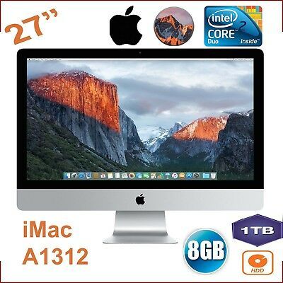"Apple iMac A1312 - 2009 27"" (2560*1440) C2D 3.06 GHz  8 GB 1 TB HDD MAC OS 10.13"