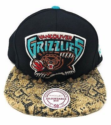NBA Vancouver Grizzlies Mitchell and Ness White /& Arch Vintage Snapback Cap Hat