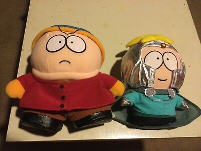 southpark figures plush cartman and butters 6-7 inches