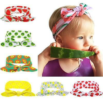 Kids Girl Baby Toddler Fresh Fruit Headband Rabbit Ears Hair Band Headwrap