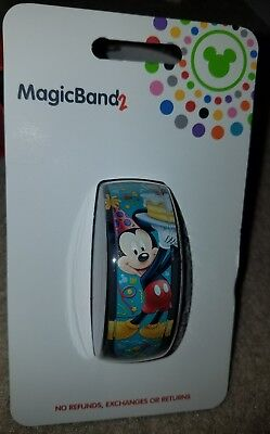 "NEW Disney Parks Magic Band 2 Mickey Mouse Birthday "" It's My Birthday! """