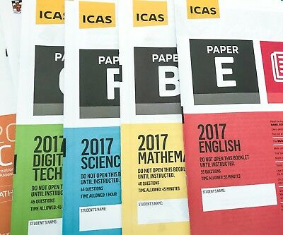 ICAS Past Papers - Year2 to Year 10 - Any 15 papers