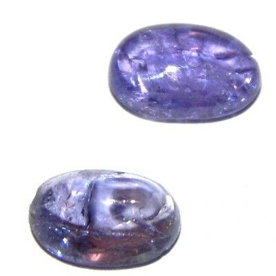 4.35 100% dazzling  NATURAL BLUE TANZANITE Cabochon Loose Gemstone S13