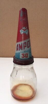 1 Imperial Pint Oil Bottle And Ampol Tin Top
