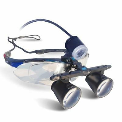 Dental 3.0X420mm One-way Screw Thread Loupes Surgical Magnifiers + LED Headlight