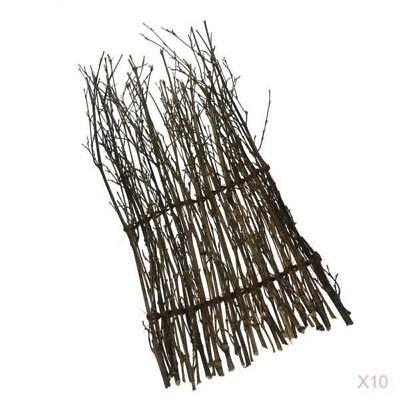 10x Bamboo Peeled Reed Screening Roll Garden Screen Fence Fencing Decor 17cm