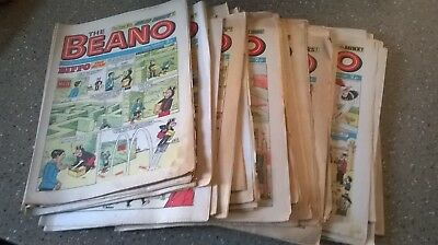 47 Beano comics from 1972..Including Christmas Issue