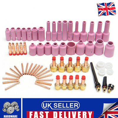 UK 67X TIG Welding Torch Body Parts Gas Lens Nozzle Collet Cup For WP-17/18/26