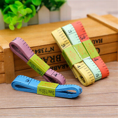 "6X 60"" 150cm Body Measuring Ruler Sewing Cloth Tailor Tape Soft Measure Tool  R"