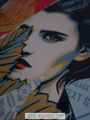 *IN HAND* Shepard Fairey・Obey Giant・Wrong Path・S/N/450 18x24・Not Liberté