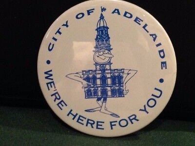 City of Adelaide - large button badge