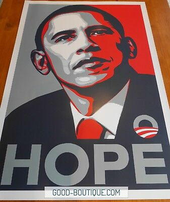 """Shepard Fairey・Hope・Official Obama Campaign Print・24""""x36""""・Unsigned・VERY RARE"""