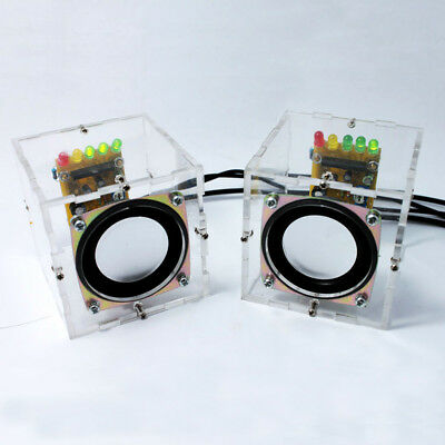 Music Amplifier Electronic DIY Kit Mini Remarkable Transparent Speaker Box F4A4
