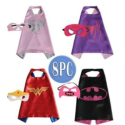 Child Super hero Costume, Cape and Mask Set for Kids, Birthday Party DIY Childre