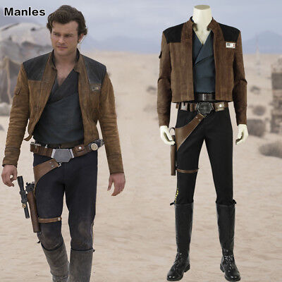 Solo A Star Wars Story Han Solo Costume Cosplay Halloween Fancy Dress Men Suits