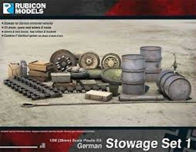Rubicon - 28Mm German Stowage Set -1/56 -Ww2 - Bolt Action Ru013