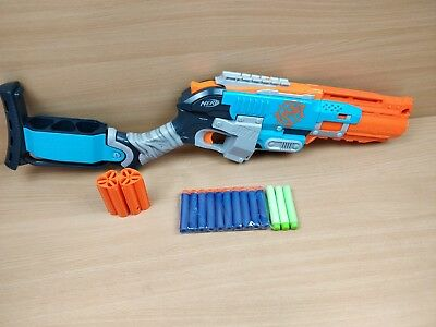 Nerf Zombie-Strike SledgeFire Blue Toy Gun With Ammo Fully Tested RARE