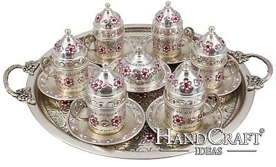 Hand Made Copper Turkish Coffee Set & Espresso Set & Tea Set for Six -(CS6-122)