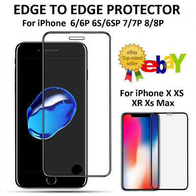 Tempered Glass 3D Curved Screen Protector For iPhone X XS Max XR 6 6S 7 8 Plus