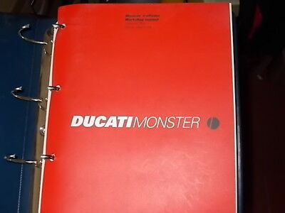 Manuale officina cartaceo Ducati 900 Monster Desmodue 1999  nuovo